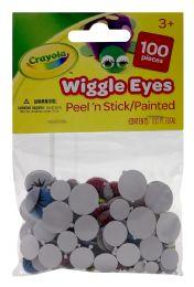 12 Units of Crayola Wiggle Eyes Peel'n Stick/painted - Paint