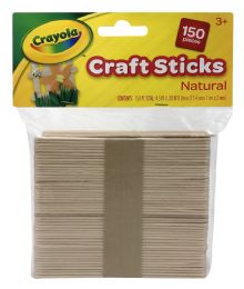 12 Units of Crayola Craft Sticks Natural - Arts & Crafts