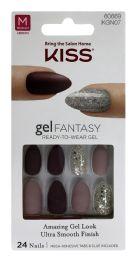 8 Units of Kiss Gel Fantasy ReadY-TO-Wear Gel Nails Medium - Nail Polish
