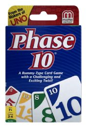 6 Wholesale Mattel Games Phase 10 A RummY- Type Card Game With A Challenging And Exciting Twist