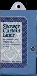 12 Bulk Shower Curtain Liner Blue