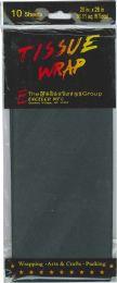 12 Wholesale Tissue Paper Black 10 Sheets