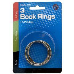 24 Bulk Avantix Book Rings 1.5 Inch 3ct