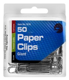 24 Bulk Ava Giant Paper Clips, 50 Count