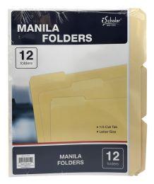 24 Wholesale Ischolar New York Manila Folders
