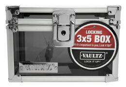 4 Units of Vaultz Lock It Up Locking 3x5 Box - Boxes & Packing Supplies
