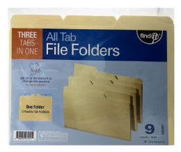 24 Wholesale Find It All Tab File Folders Count 9