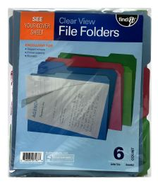 12 Wholesale Find It Clear View File Folders Count 6