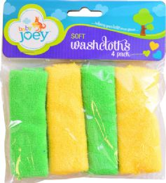 6 Wholesale Bjoey Washcloths 4pk