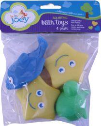 6 Wholesale Bjoey Bath Toys 4pk