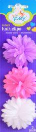12 Wholesale Bjoey Flower Hair Clips 3pk