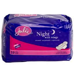 36 Wholesale Maxi Pads W/wings 10ct Overnight Absorbancy Unscented Julie Brand