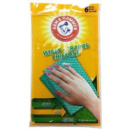 24 Wholesale Wipes 6ct Reusable Household In 24pc Pdq Arm & Hammer