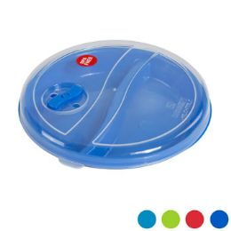 72 Units of Microwave Divided Plate /cover Set W/vent In Pdq 4 Asst - Disposable Plates & Bowls