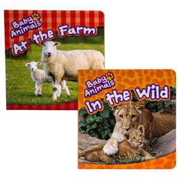 48 Units of Board Book Baby Animals 2 Assorted In Pdq - Books