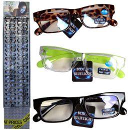 72 Wholesale Eyeglasses Blue Light Blockers No Powers #blnp72d