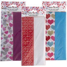48 Wholesale Tissue 8ct 3ast Valentine