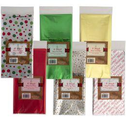 48 Wholesale Tissue Mylar 4ct 6asst