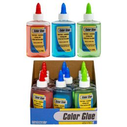 36 Units of Glue 3.8oz 3ast Color 12pc Pdq - Glue