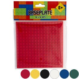 36 Wholesale Blocks Baseplate 5x5in 6ast