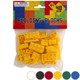 48 Wholesale Blocks Solid Color Bricks 48pcs