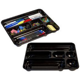 24 Wholesale Drawer Organizer Plastic Black