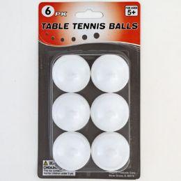 48 Bulk Table Tennis Balls 6pk White Blister Card