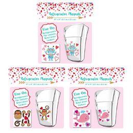 24 Units of Magnet Valentine Jumbo Cutout 3asst Styles Val Pb/insert - Refrigerator Magnets
