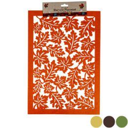 48 Units of Placemat Felt Leaf Lasercut 12x - Placemats