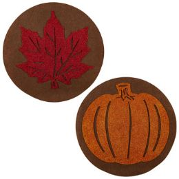 48 Units of Placemat Harvest 15in Round Felt - Placemats