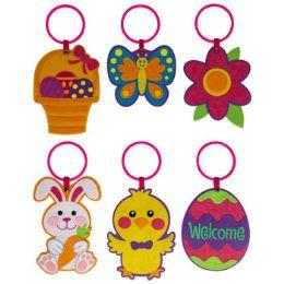 36 Wholesale Door Hanger Felt 6ast Easter/