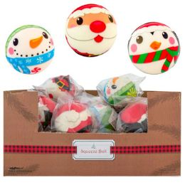 24 Units of Squeeze Ball 3in 3asst Christmas Designs 24pc Pdq - Christmas