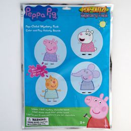 12 Units of Art Boards Pop Outz Mystery Pk Peppa Pig Peggable See n2 - School Supplies