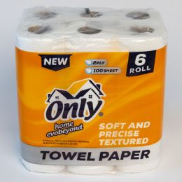 4 Units of Paper Towels 6pk 2ply 100 Sheets Only Home - Kitchen Tools & Gadgets
