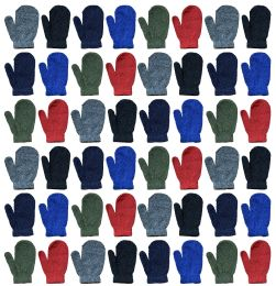 120 Units of Yacht & Smith Kids Warm Winter Colorful Magic Stretch Mittens Age 2-8 - Kids Winter Gloves