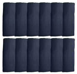 60 Units of Yacht & Smith Unisex Solid Black Warm Winter Fleece Scarves 60x12 - Winter Scarves