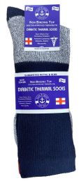 72 Units of Yacht & Smith Mens King Size Thermal Ring Spun Non Binding Top Cotton Diabetic Socks With Smooth Toe Seem - Big And Tall Mens Diabetic Socks