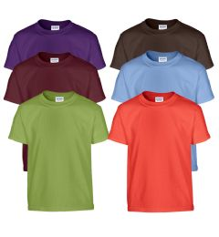 216 Units of Fruit Of The Loom Irregular Youth T-Shirts Assorted Sizes - Kids Clothes Donation