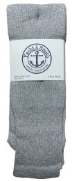 48 Units of Yacht & Smith Men's Cotton 31 Inch Tube Socks, Referee Style, Size 10-13 Solid Gray - Mens Tube Sock