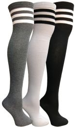 36 Units of Yacht & Smith Womens Over The Knee Referee Thigh High Boot Socks - Womens Over the knee sock