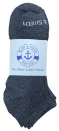 240 Units of Yacht & Smith Womens 97% Cotton Low Cut No Show Loafer Socks Size 9-11 Solid Gray - Women's Socks for Homeless and Charity