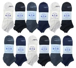 240 Units of Yacht & Smith Womens 97% Cotton Low Cut No Show Loafer Socks Size 9-11 Solid Assorted - Women's Socks for Homeless and Charity