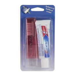 180 Units of Crest Regular Toothpaste & Travel Toothbrush - 0.85 Oz. Carded - Hygiene Gear