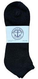120 Units of Yacht & Smith Men's King Size Cotton No Show Ankle Socks Size 13-16 Black Bulk Pack - Big And Tall Mens Ankle Socks