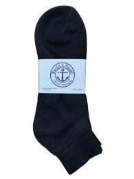 120 Units of Yacht & Smith Men's Cotton Terry Cushion Athletic LoW-Cut Socks King Size 13-16 Black - Big And Tall Mens Ankle Socks