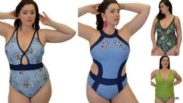 60 Units of Yacht & Smith Plus Size Womens Assorted Bathing Suit Lots Limited Supply - Womens Swimwear