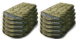 20 Units of Yacht & Smith Temperature Rated 72x30 Sleeping Bag Solid Olive Green - Sleep Gear