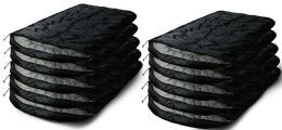 40 Units of Yacht & Smith Temperature Rated 72x30 Sleeping Bag Solid Black - Sleep Gear