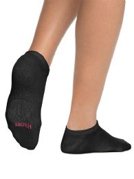180 Units of Hanes Woman Black Footie, No Show Ankle Socks - Women's Socks for Homeless and Charity