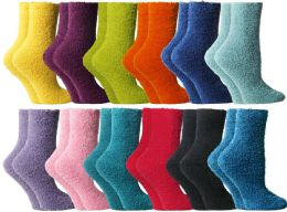 96 Units of Yacht & Smith Butter Soft Womens Cozy Fuzzy Socks, Sock Size 9-11 - Womens Fuzzy Socks